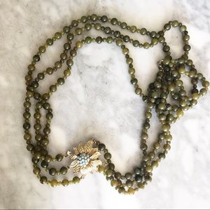 Anthropologie Beaded Long Necklace